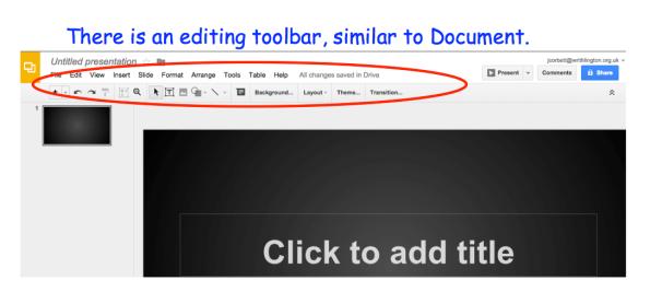 how to edit google drive presentation