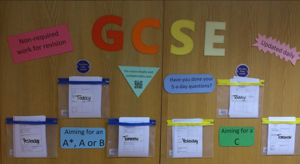 Classroom Display Ideas Ks3 ~ A day display boards corbettmaths